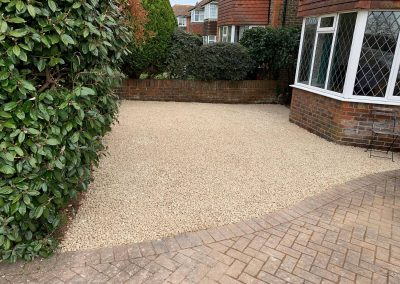 after a new driveway installation